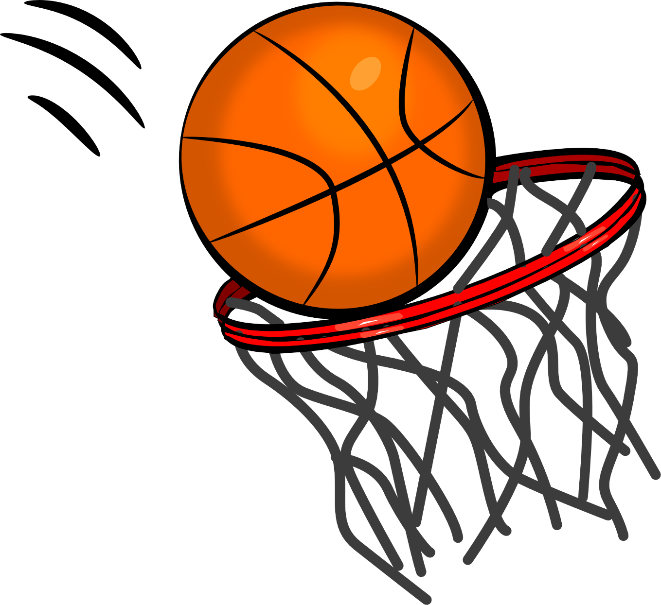 svg freeuse Hoop free . 1 clipart basketball