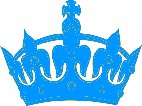 clipart transparent library Pink and blue . 1 clipart crown