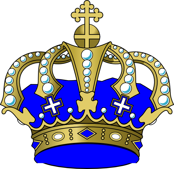 picture royalty free download Blue . 1 clipart crown.