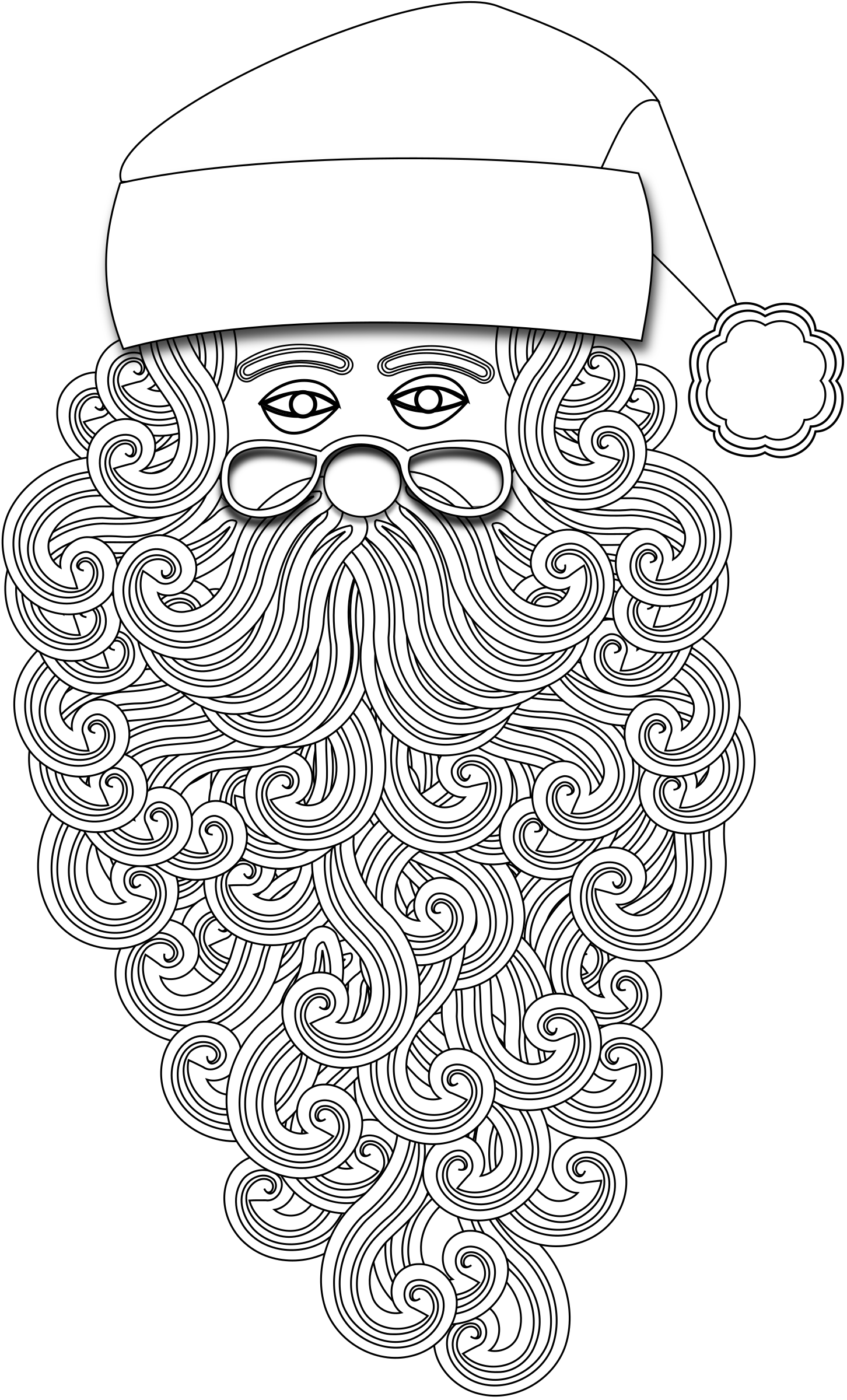 picture free stock Beard clipart outline. Santa big image png