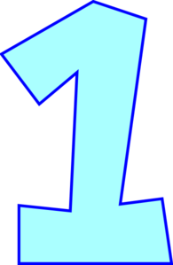 jpg royalty free library Numbers . 1 clipart single number