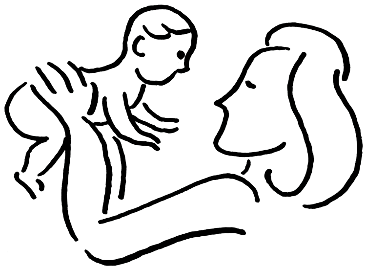 jpg transparent download Mom And Baby Clipart
