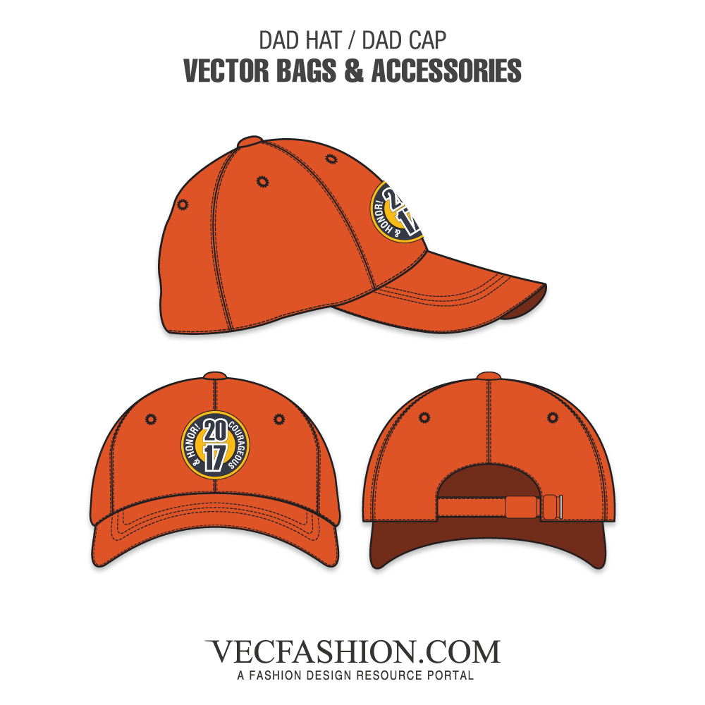 image royalty free library Dad Hat or Dad Cap Template