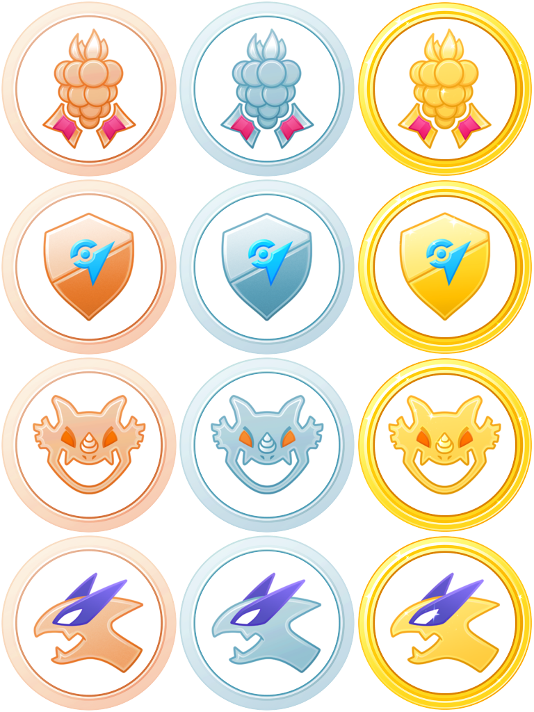 vector free library New raid medals pokemongo. Medal vector batch.