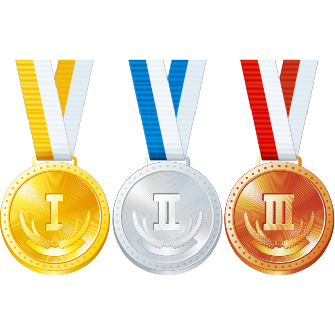 graphic black and white download Bronze gold silver medals. Medal transparent runner up