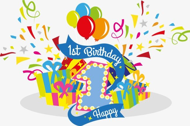 svg free download Celebrate their first clipart. 1 vector happy 1st birthday