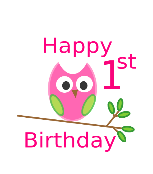 banner free stock 1 vector happy 1st birthday #88606151