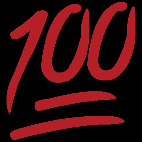 jpg free 100 clipart. Hand emoji percent free.