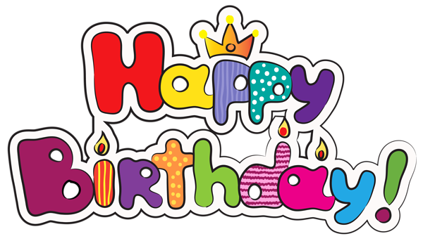 image free library Yay clipart happily. Colorful happy birthday png