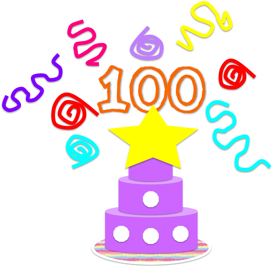 clip black and white stock 100th of clipart happy 100th. Share it science may