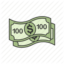 clip art royalty free Cash dollars icon search. 100 clipart one hundred