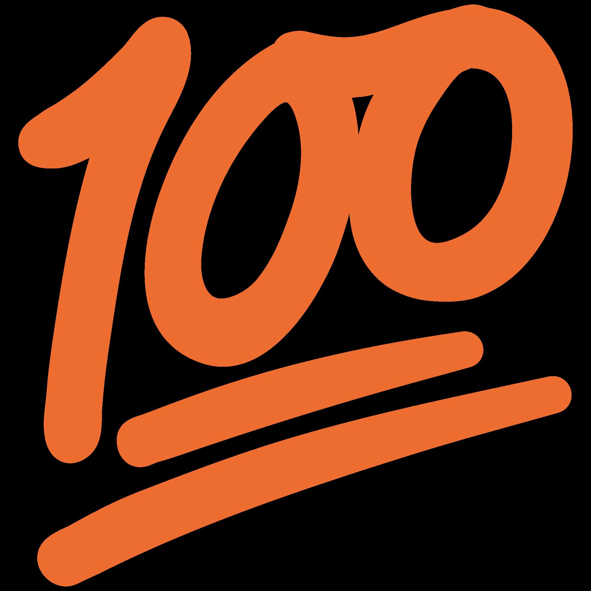 svg transparent download 100 clipart one hundred. File emoji u f