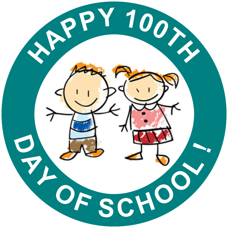 picture black and white Days school free printable. 100th of clipart happy 100th