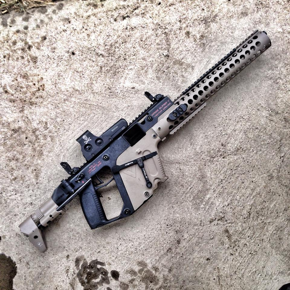 jpg royalty free download Kriss extended handguard caliber. Vector carbine custom