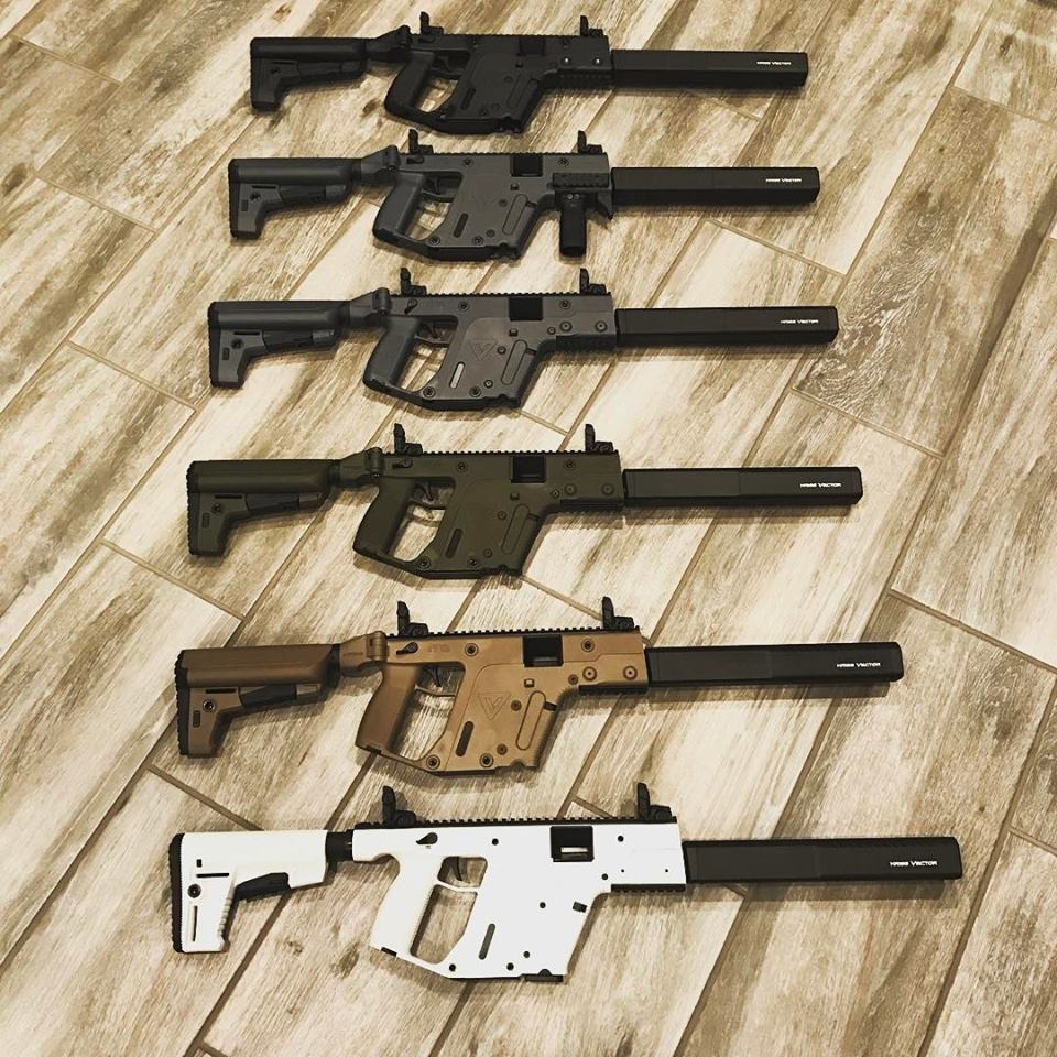 clip art transparent Vector carbine custom. Kriss crb various models
