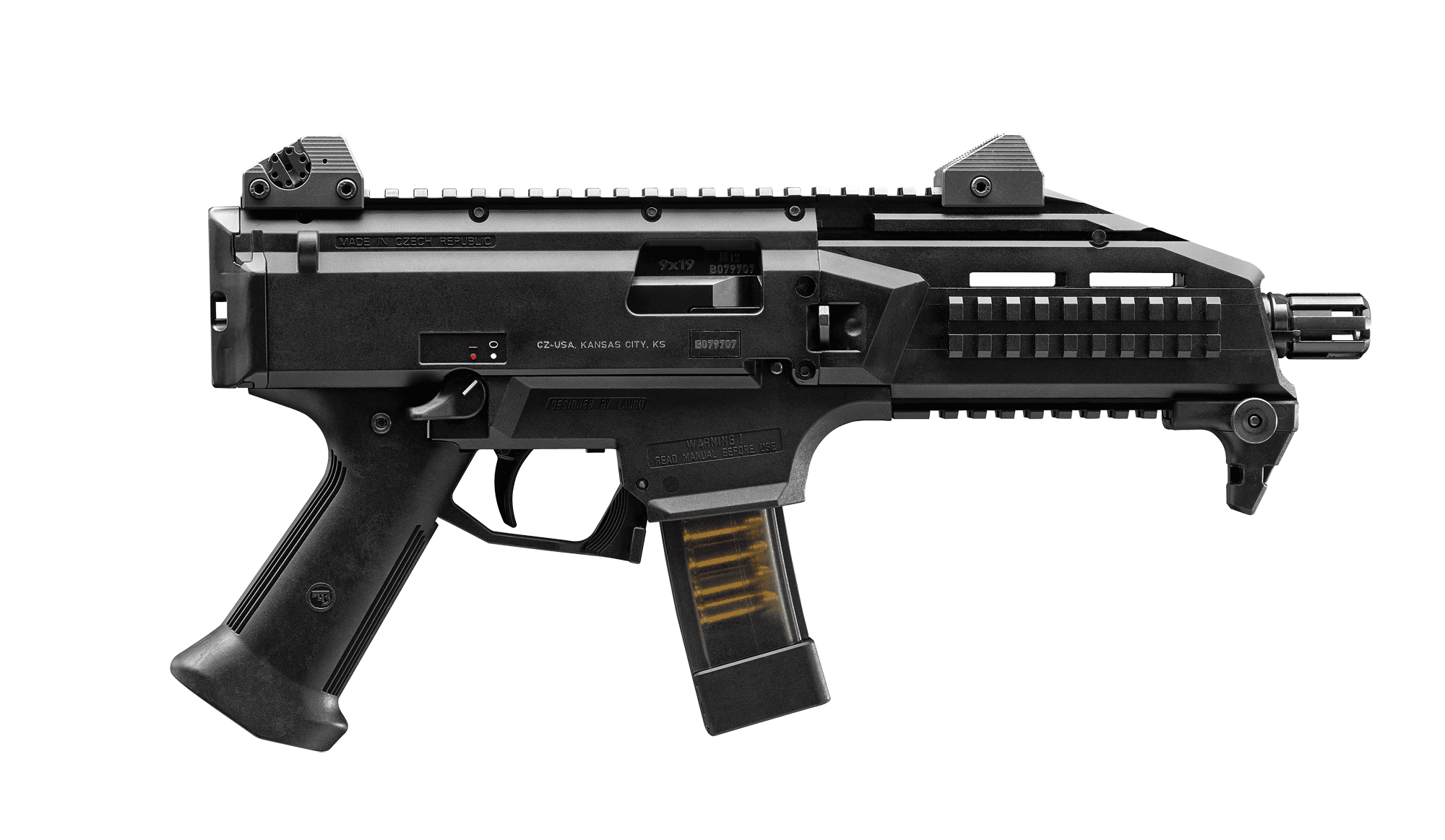 svg stock Vector carbine holographic sight. Cz usa scorpion evo