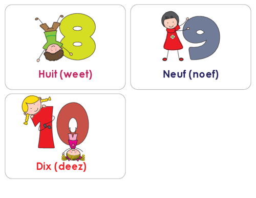 svg download French Numbers Flashcards