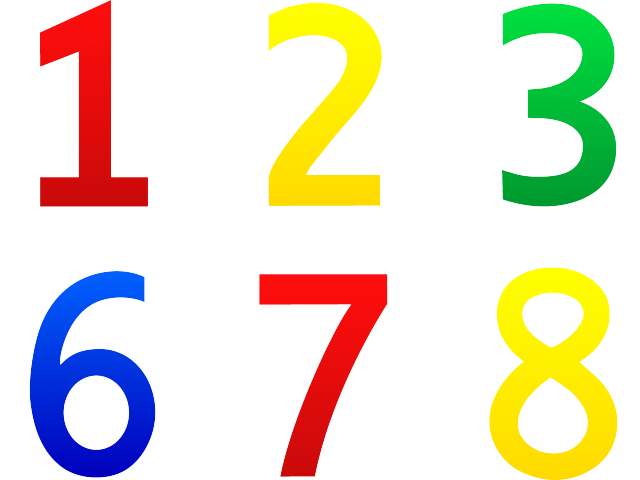svg freeuse download Svg black and white download of numbers