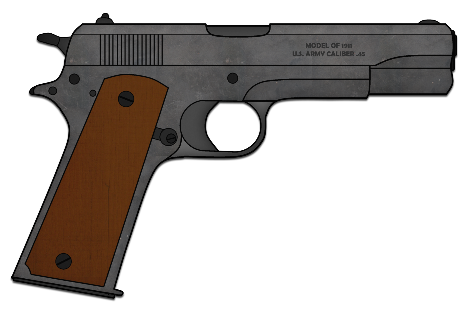 black and white 1911 drawing colt #88623135