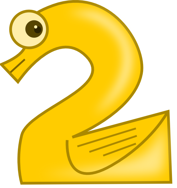 vector royalty free Animal number two clip. 2 clipart