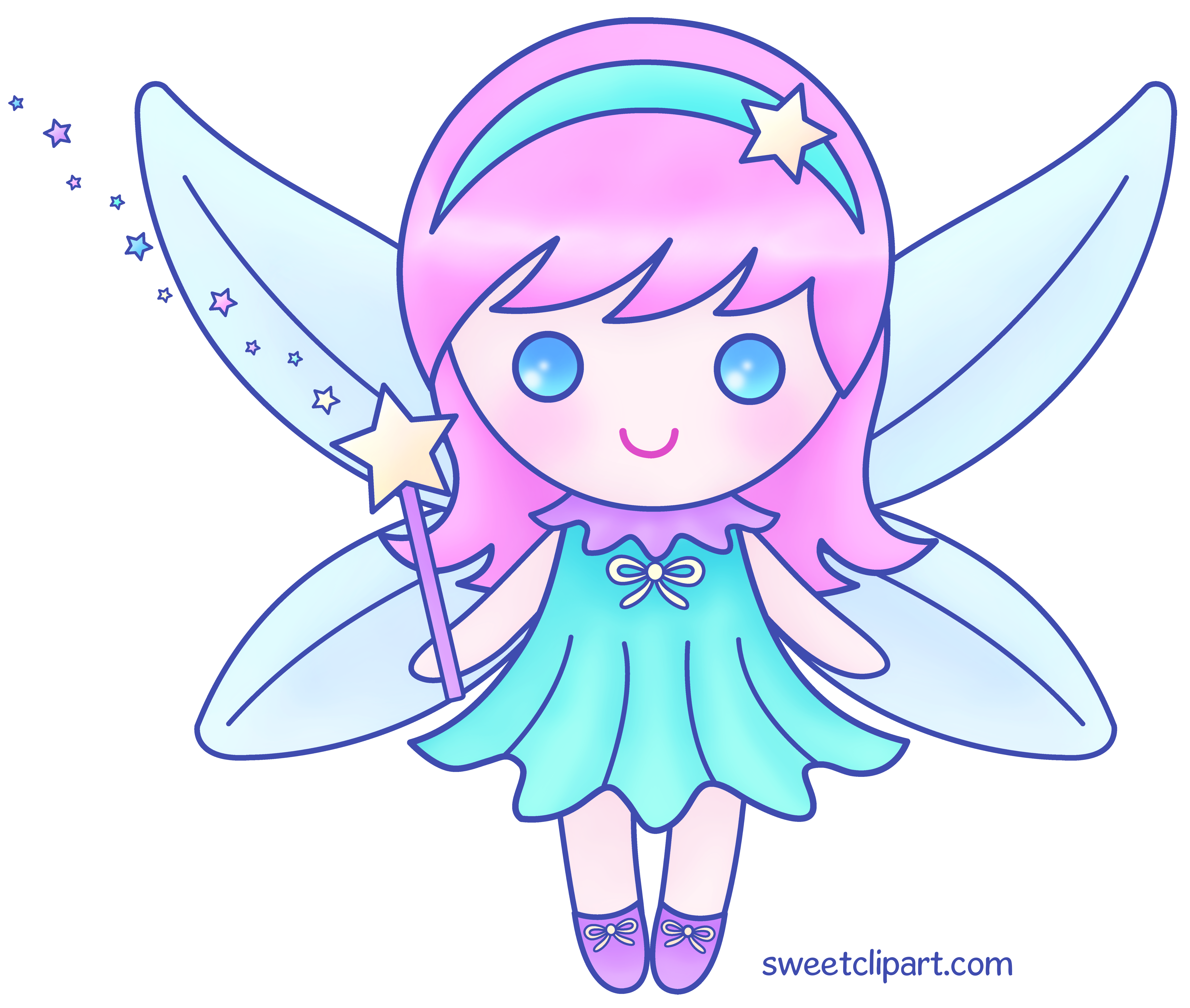 graphic royalty free stock Fairy transparent color. Cute pink version free