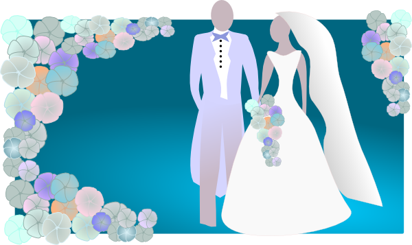 jpg black and white library Kattekrab bride and clip. 2 clipart groom