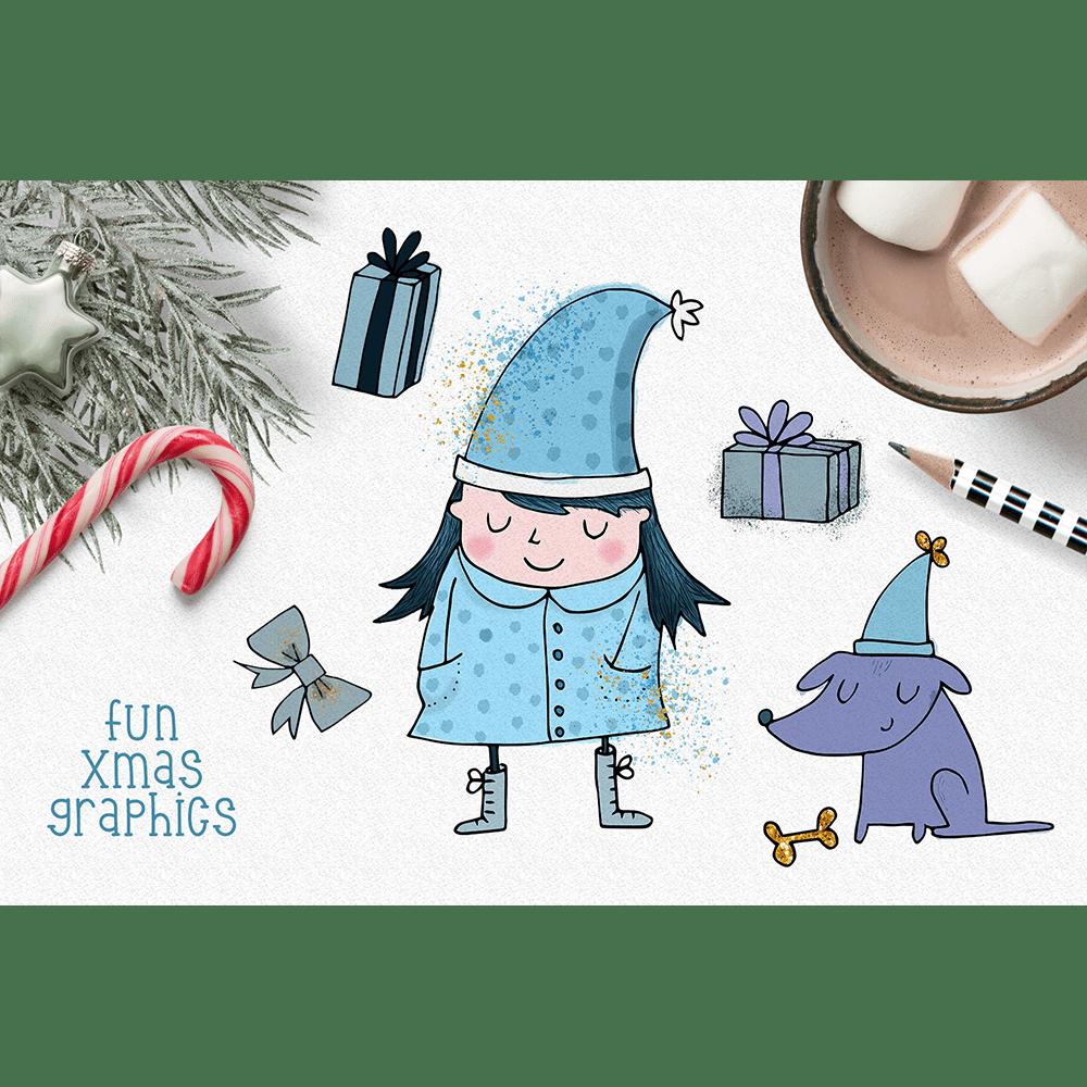 jpg free download Cute digital watercolor christmas. 2 clipart min