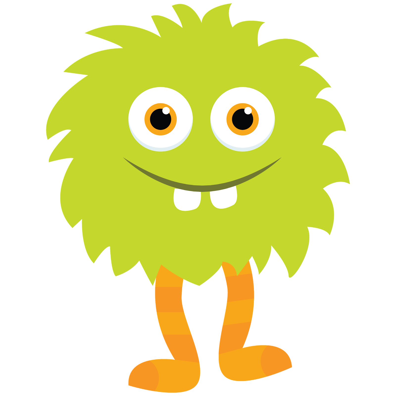 jpg royalty free download Little monster green by. 2 clipart monsters