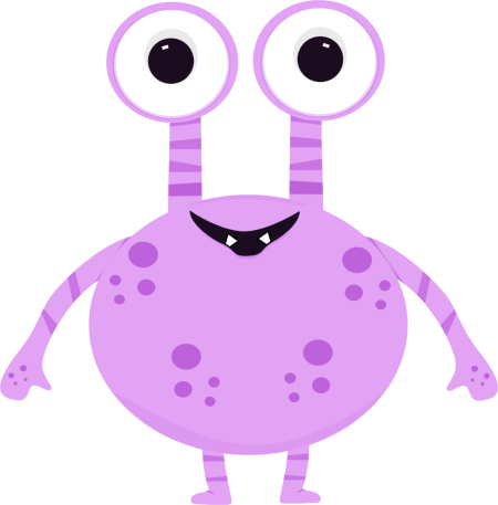 image library Purple two eyed monster. 2 clipart monsters