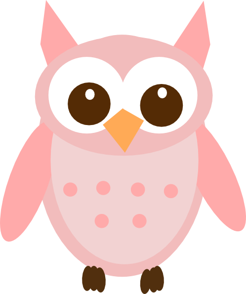 vector freeuse library 2 clipart owl.  toned pink clip