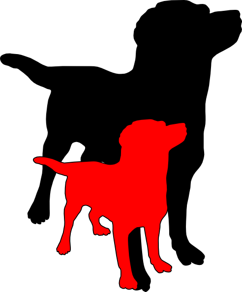 vector free two dogs clipart #62367459