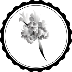 picture royalty free 2013 clipart black and white. Bouquet clip art at