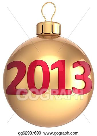svg freeuse download Drawing gold ball new. 2013 clipart christmas