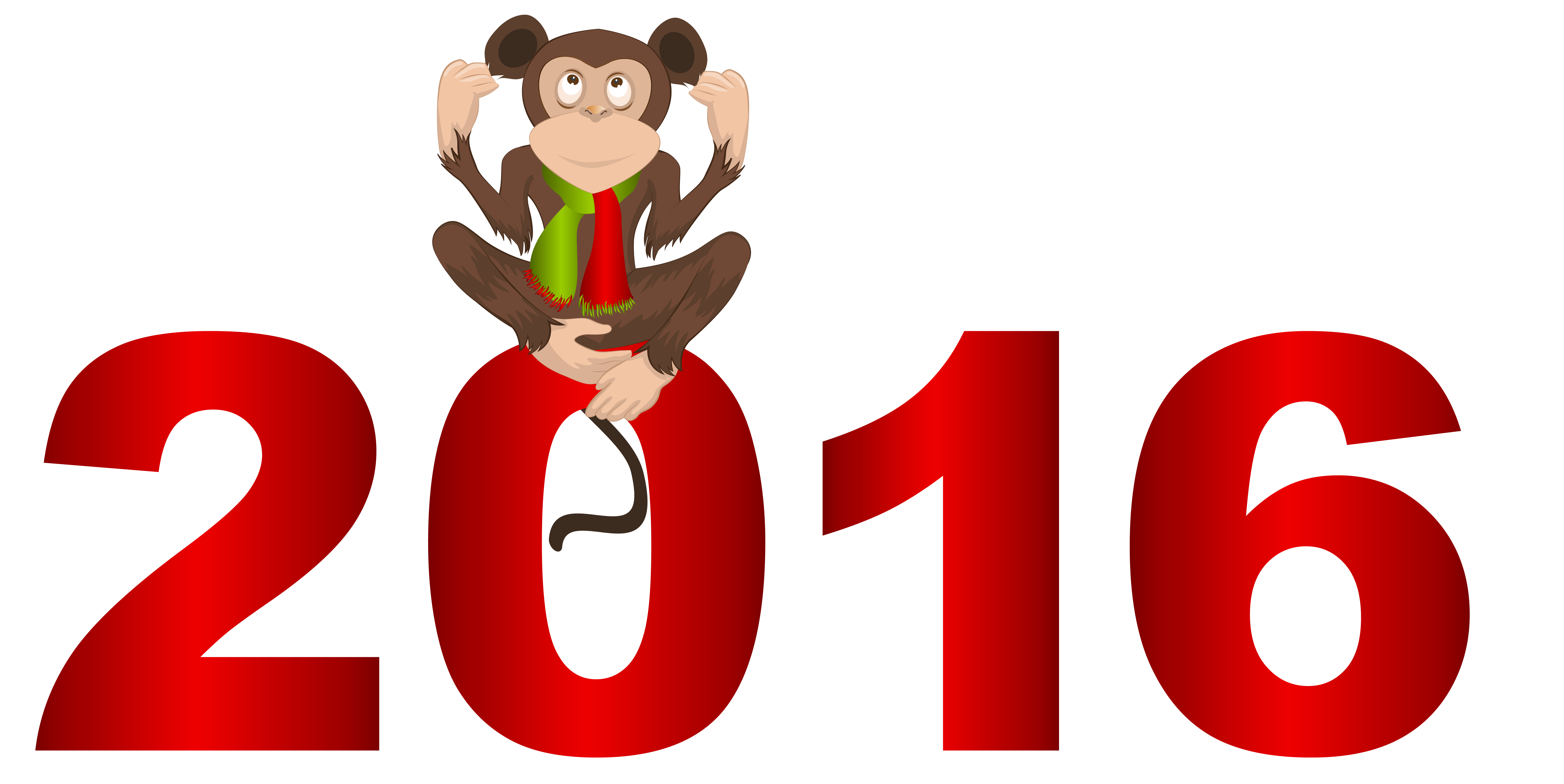 clip royalty free download  with png image. Years clipart monkey 2016