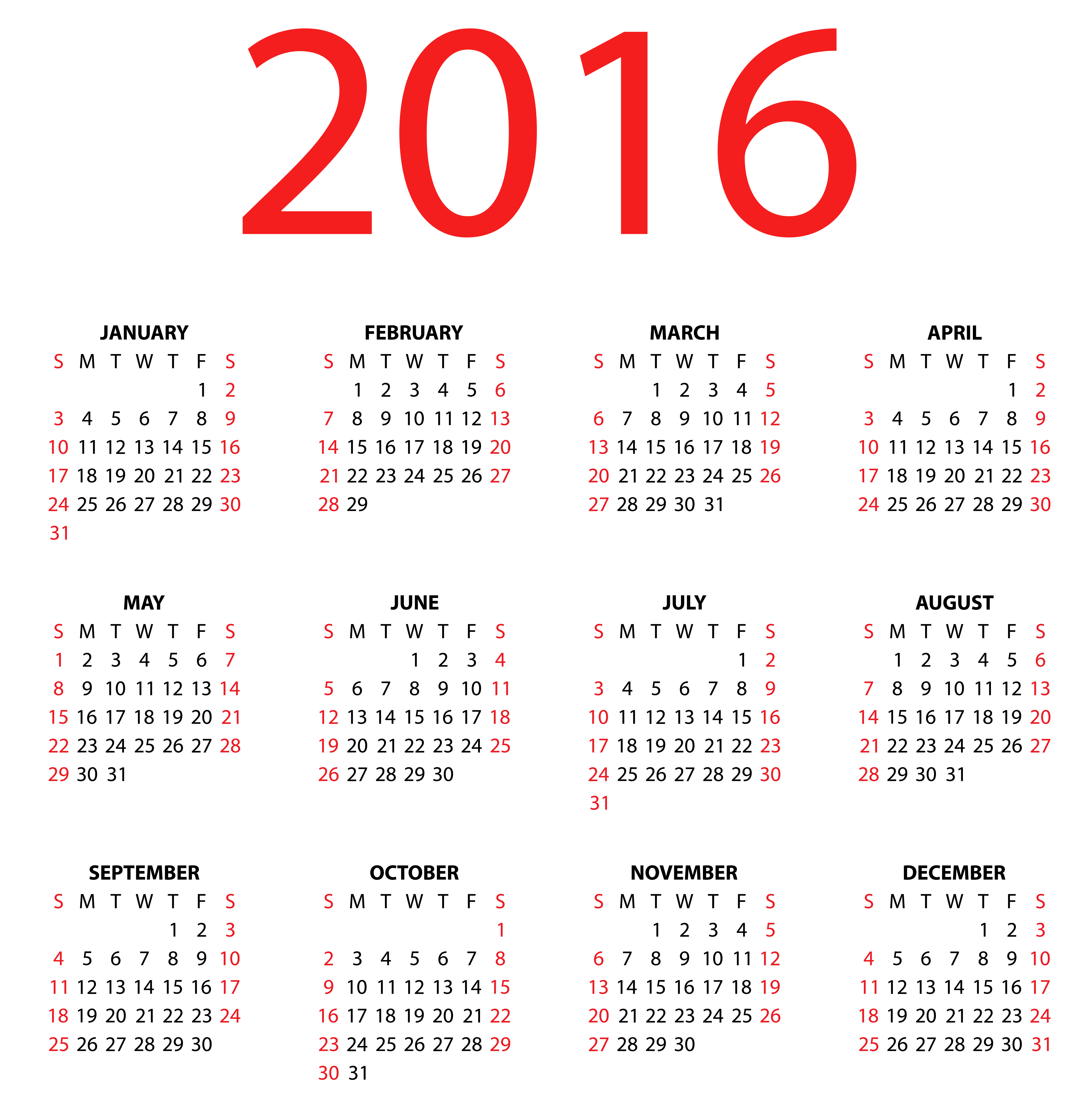 graphic black and white stock 2016 clipart january. Transparent calendar for png