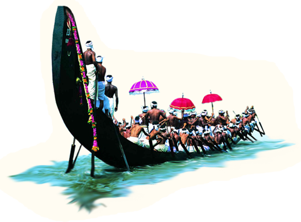 clip art Onam festival race png. Vector boat abstract