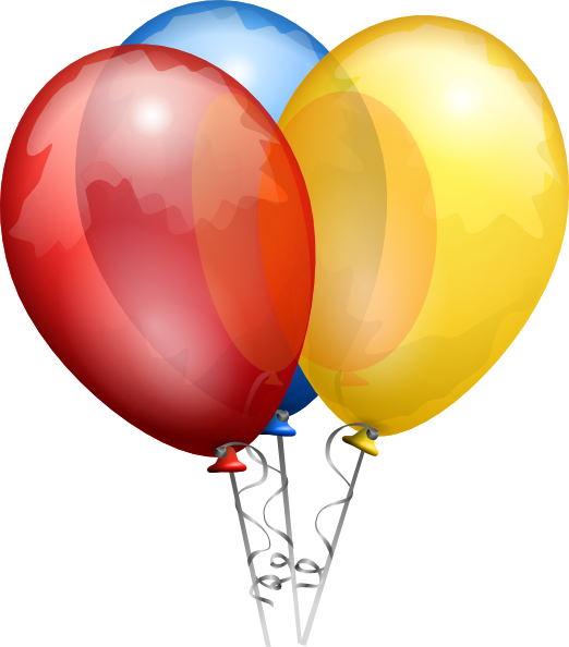 clip art royalty free download Free clipart balloons and streamers. Birthday balloon clip art