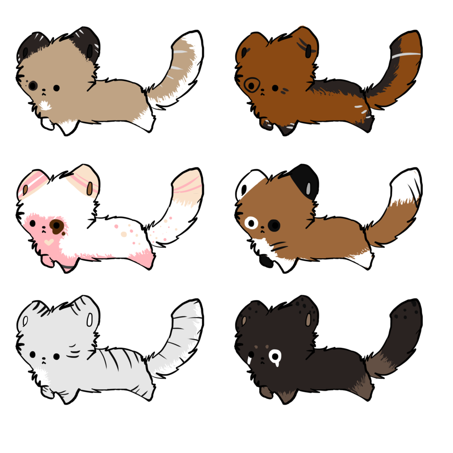 black and white stock Cheap chibi red panda. 2017 clipart batch