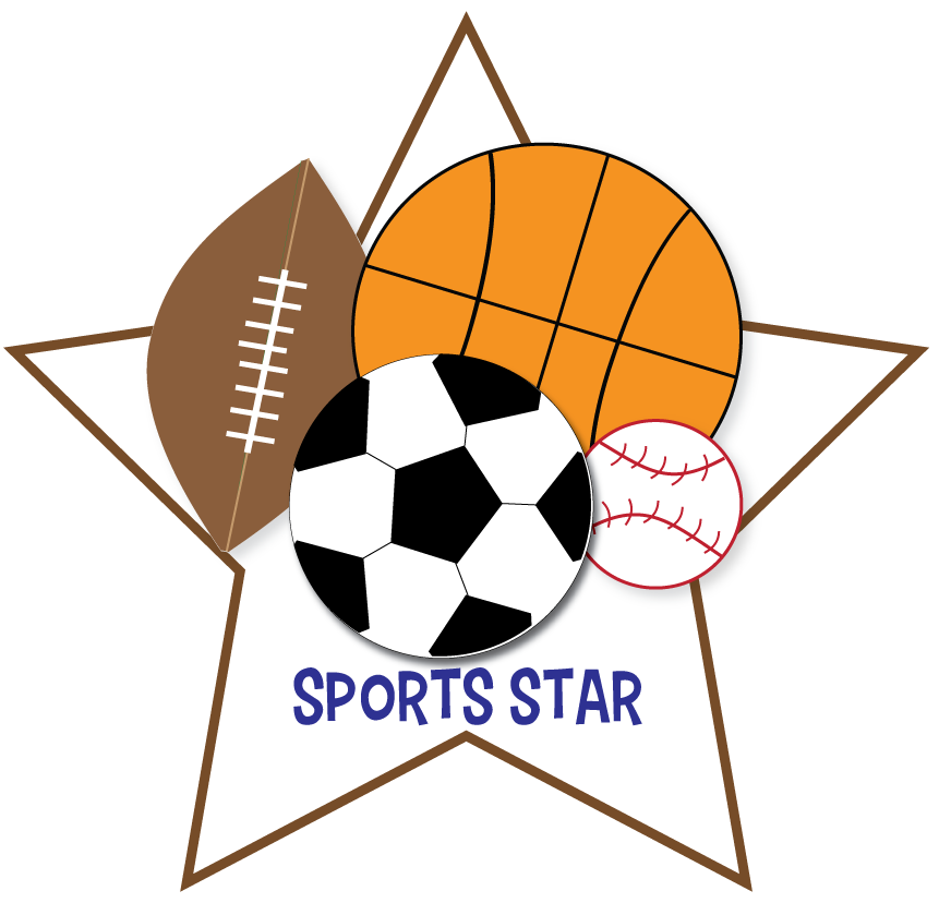 banner transparent Sports ball clipart. Free for parties crafts
