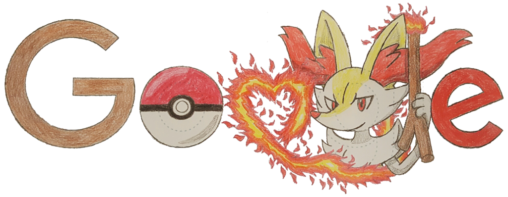 image royalty free stock Braixen Google Doodle by Numbuh