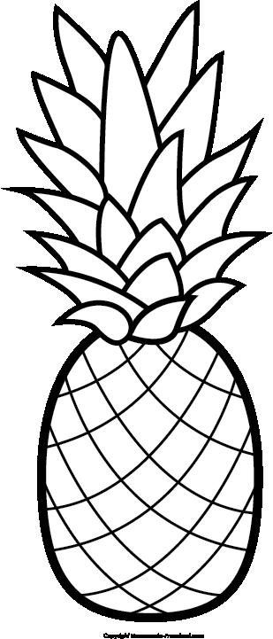 banner free Pineapple feb dec . Spotlight clipart black and white