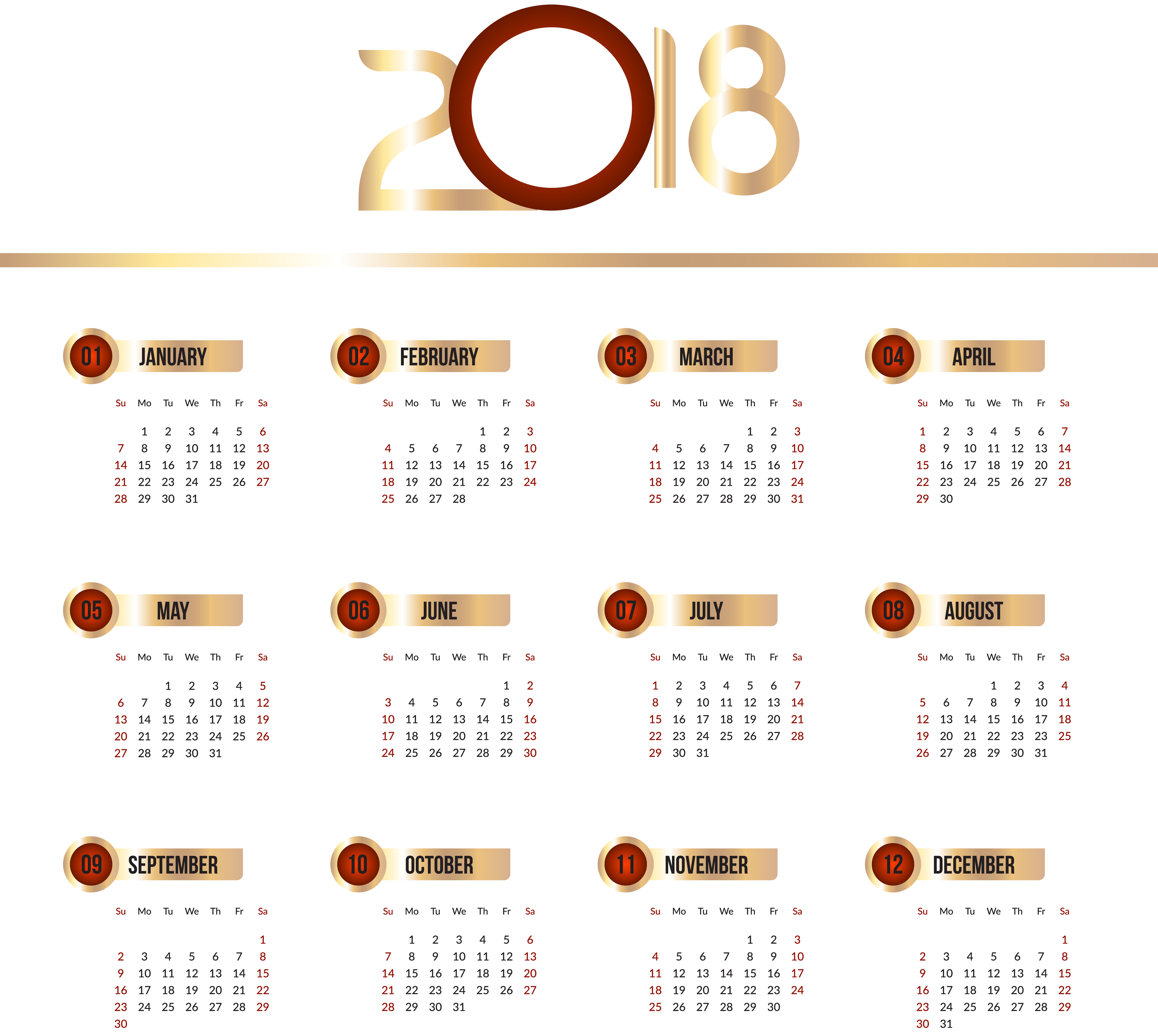 royalty free download 2018 clipart calender.  calendar transparent clip