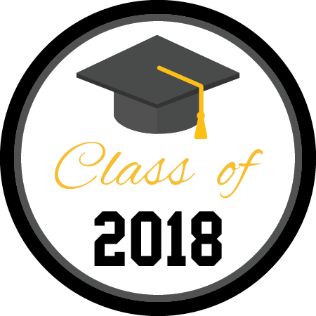 vector library stock Grad clipart class 2018. Graduation napkin knot cap
