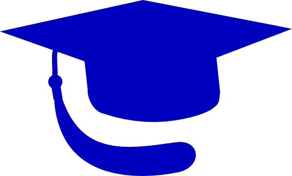 jpg black and white download Cap blue hat clip. Graduation clipart divider