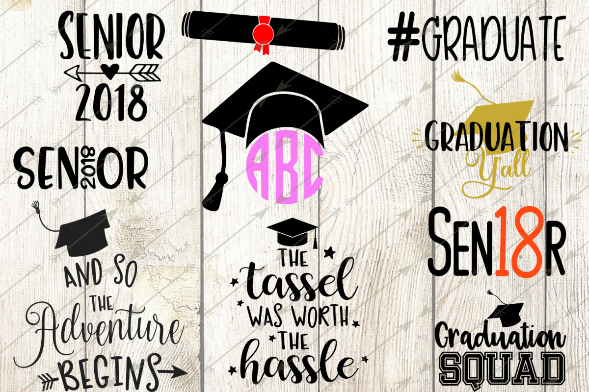 picture royalty free download 2018 clipart graduation.  svg bundle design.