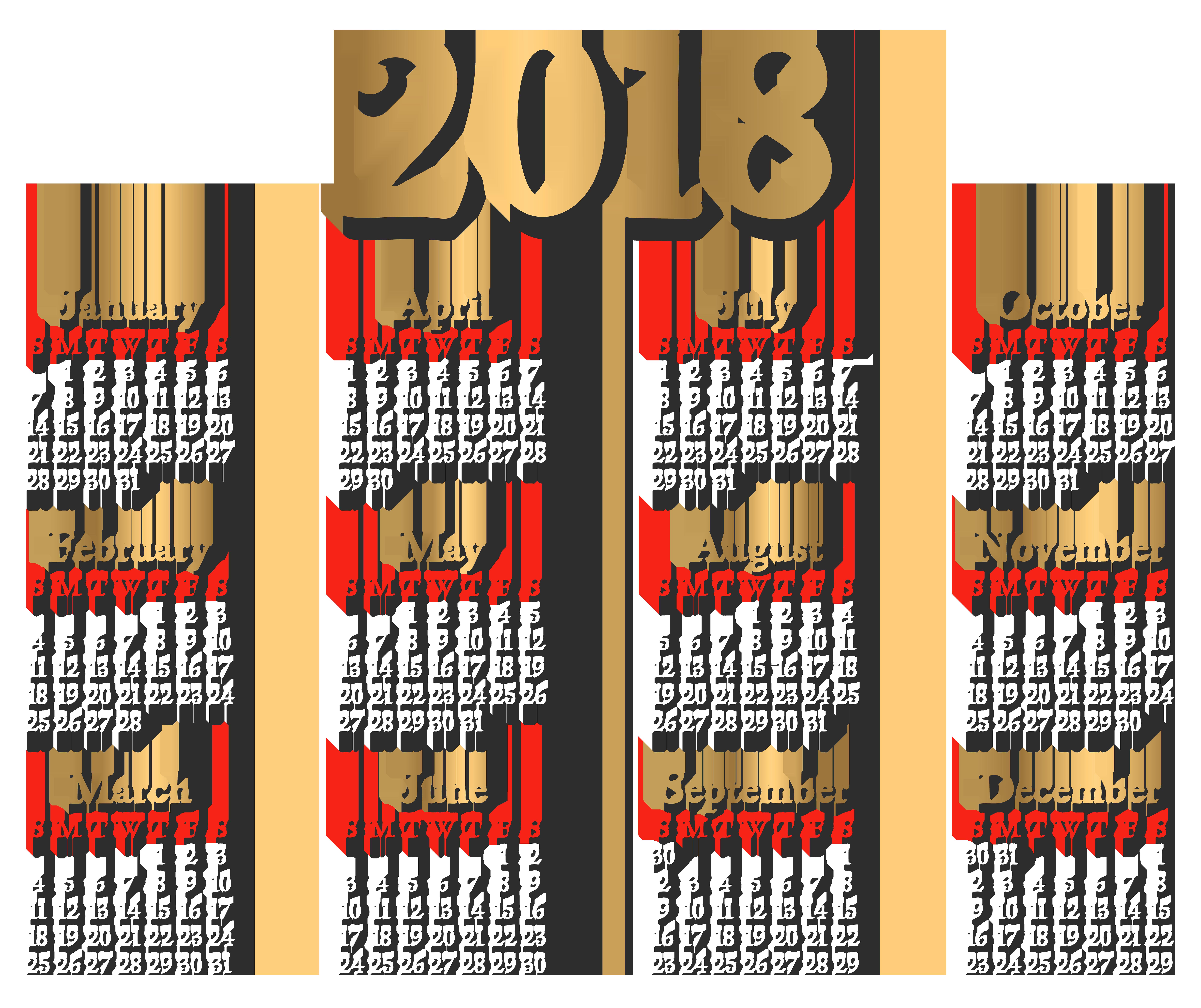 clip transparent stock  transparent clip art. 2018 clipart january calendar