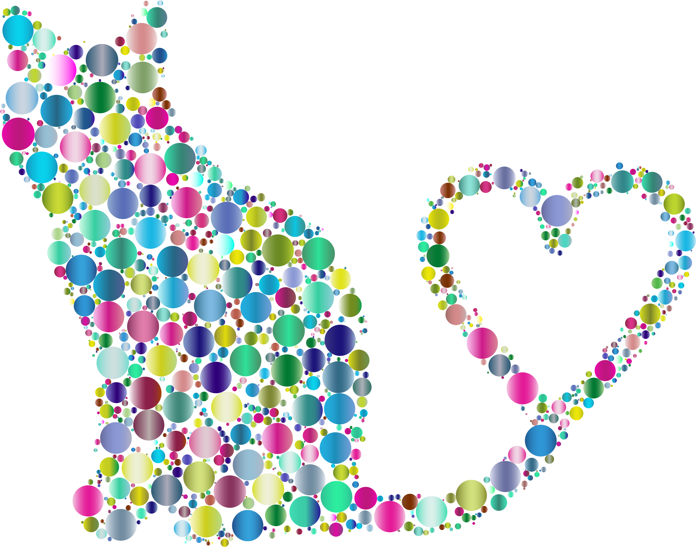 transparent stock 2018 clipart prismatic. Cat silhouette heart tail