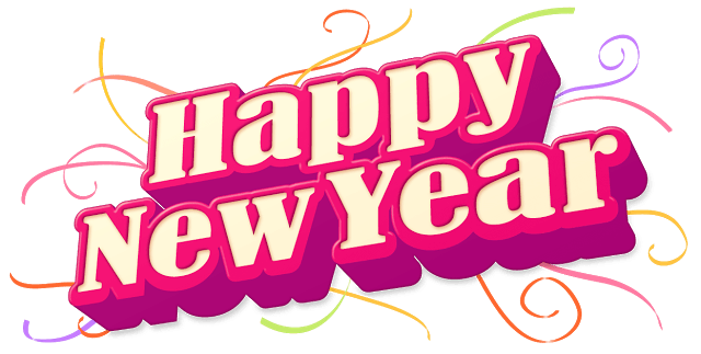 banner transparent download Happy New Year