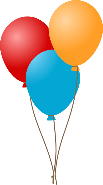 vector transparent library Three Balloons Clip Art at Clker