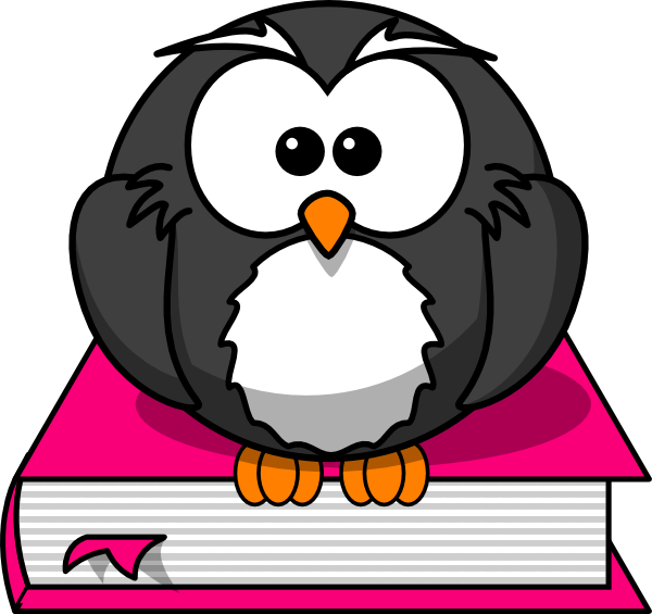 clipart royalty free library Teacher owl clipart. Charcoral on pink book